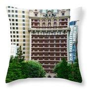 The Historic Adolphus Hotel Throw Pillow