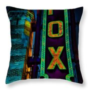 The Historic Fox Theatre Throw Pillow