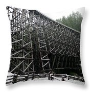 The Historic Kinsol Trestle 3. Throw Pillow