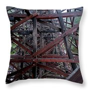The Historic Kinsol Trestle  Inside View Throw Pillow