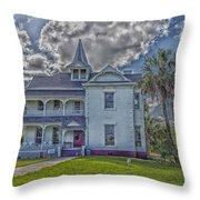 The Historic Rabb Plantation Home Throw Pillow