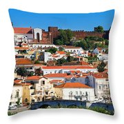 The Historic Town Of Silves In Portugal Throw Pillow