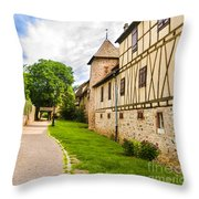 Riquewihr, Alsace, France  Throw Pillow