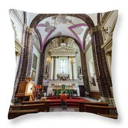The Historical Church - Iglesia De La Salud Throw Pillow