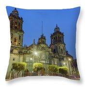 The Historical Mexico City Metropolitan Cathedral Throw Pillow