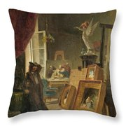 The History Painter Throw Pillow