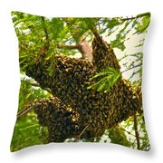 The Hive Throw Pillow