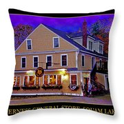 The Holderness General Store Throw Pillow