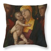 The Holy Family With Saint Mary Magdalen 1500 Throw Pillow