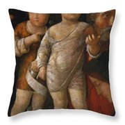 The Holy Family With St John Throw Pillow