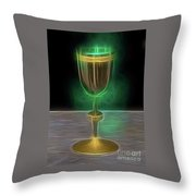 The Holy Grail By Raphael Terra Throw Pillow