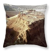 The Holy Land: Masada Throw Pillow
