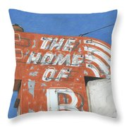 The Home Of R Throw Pillow