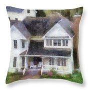 The Homes Of Mackinac Island Michigan 02 Pa Throw Pillow