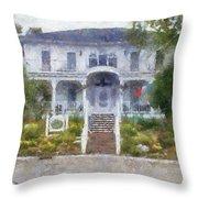 The Homes Of Mackinac Island Michigan 04 Pa Throw Pillow