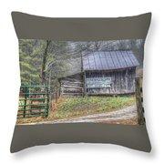 The Honeymoon Lodge Throw Pillow