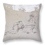 The Honeymoon Throw Pillow