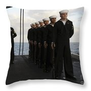 The Honor Guard Stands At Parade Rest Throw Pillow
