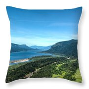 The Hood River  Throw Pillow
