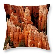 The Hoodoos In Bryce Canyon Throw Pillow