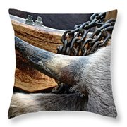 The Horn Of The Beast Throw Pillow