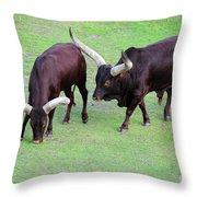 The Horns Throw Pillow