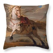 The Horse And The Snake Throw Pillow