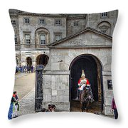 The Horse Guard At Whitehall Throw Pillow