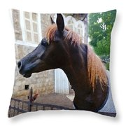 The Horse In The City Throw Pillow
