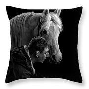 The Horse Whisperer Extraordinaire Throw Pillow