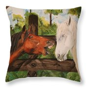 The Horse Whisperers Throw Pillow