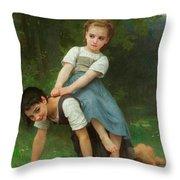 The Horseback Ride Throw Pillow