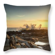 The Horses Arrive Throw Pillow