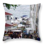 The Horses Of Mackinac Island Michigan Vertical 02 Throw Pillow