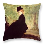 The Horsewoman Throw Pillow