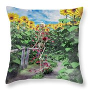 The Horticulturist Throw Pillow