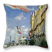 The Hotel Des Roches Noires At Trouville Throw Pillow