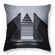 The Hotel Experimental Futuristic Architecture Photo Art In Modern Black And White Throw Pillow