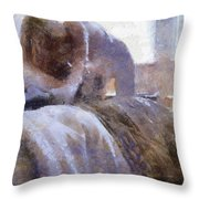 The Hotel Room By Mary Bassett Throw Pillow