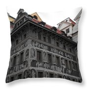 The House At The Minute Throw Pillow