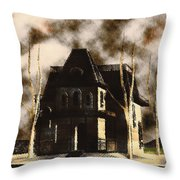 The House From Psycho Throw Pillow
