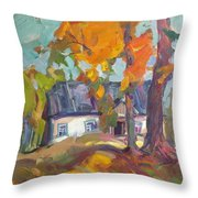 The House In Chervonka Village Throw Pillow