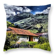The House In The Valley Throw Pillow
