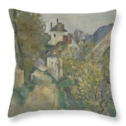 The House Of Dr Gachet In Auvers Sur Oise Throw Pillow