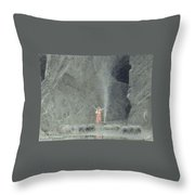 the house of the Chambers of Death Throw Pillow