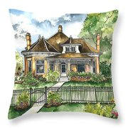 The House On Spring Lane Throw Pillow