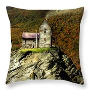 The House Time Forgot Color Throw Pillow