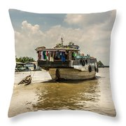 The Houseboat Throw Pillow