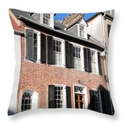 The Houses Of Charleston Throw Pillow