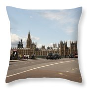 The Houses Of Parliament. Throw Pillow